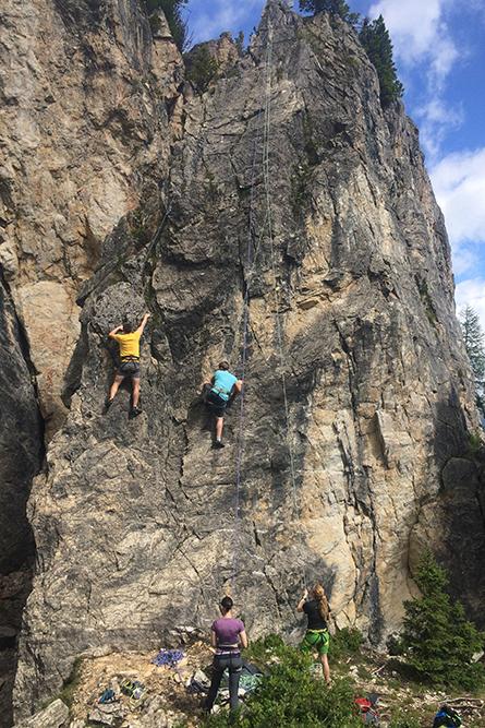 Klettern mit Gruppen