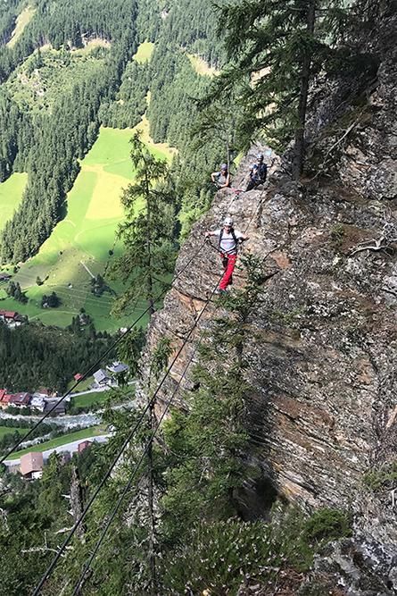Kletterstieg und Wandern